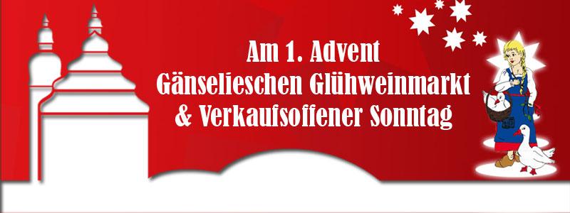 Gänselieschen Glühweinmarkt & Verkaufsoffener Sonntag @ Hildburghausen | Hildburghausen | Thüringen | Deutschland